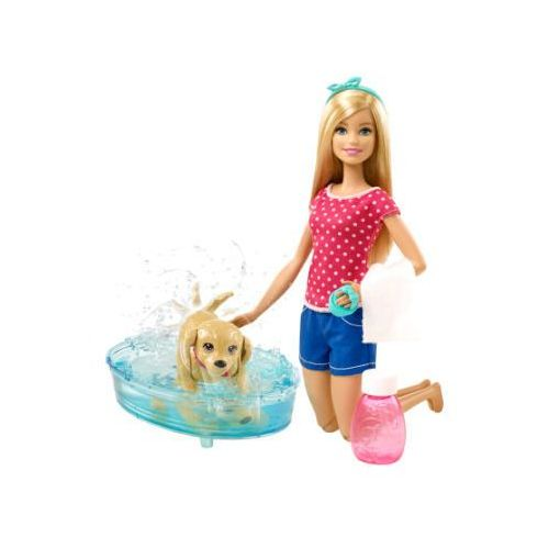 Barbie Mattel  my fab pets - barbie kąpiel psa