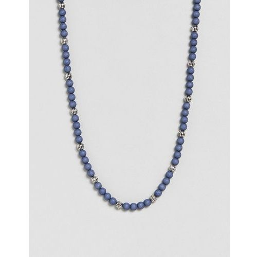beaded necklace in marble blue exclusive to asos - blue marki Icon brand