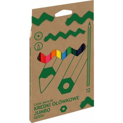 Kredki ołówkowe JUMBO naturalne 12 kolorów GRAND - X00671, NB-6928