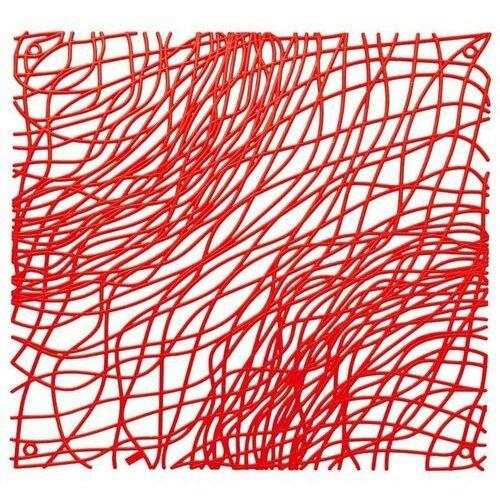 Panel dekoracyjny silk - czerwony