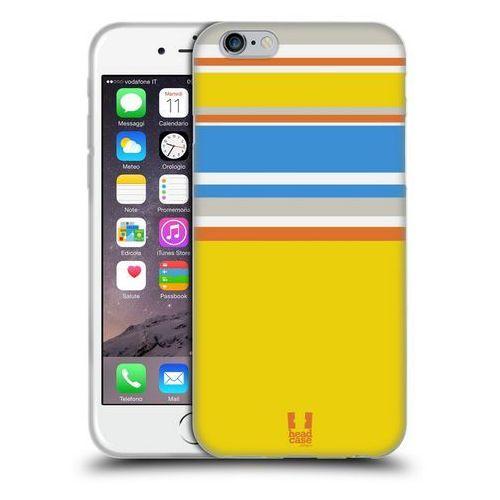Etui silikonowe na telefon - Paski Żółte i Niebieskie, kolor niebieski