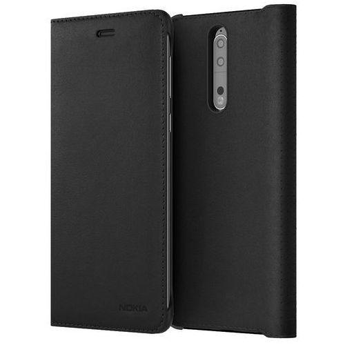 Nokia Etui  leather flip cover cp-801 do nokia 8 czarny (6438409009463)