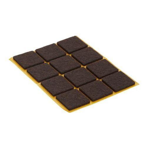 Podkładki filcowe samoprzylepne 24 x 24 mm brązowe 12 szt. marki Diall