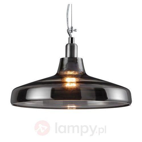 Szklana lampa wahadłowa Dover, przydymiony szary (4017807277968)