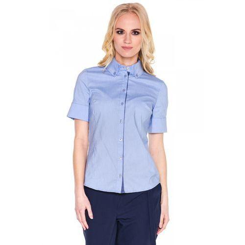 Niebieska koszula z krótkim rękawem - Click Fashion, kolor niebieski