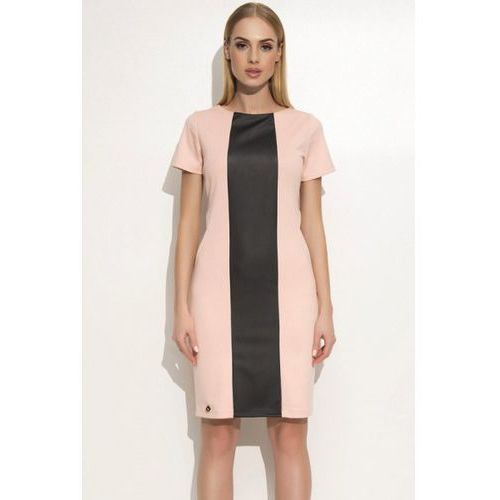 Sukienka model m356 powder pink, Makadamia
