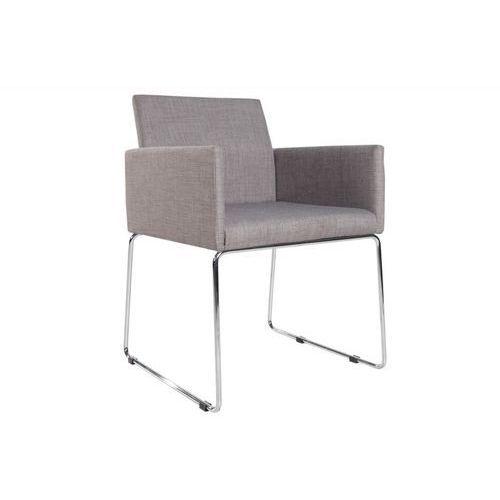 Krzesło porto z podłokietnikami - jasnoszare - szary marki Interior space