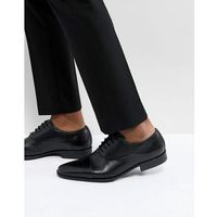 leather oxford shoes in black - black, Pier one