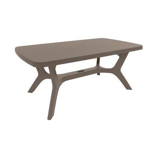 Stół ogrodowy BALTIMORE 100 x 177 cm cappuccino ALLIBERT