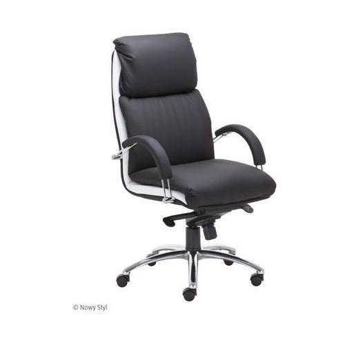 Fotel biurowy NADIR steel czarny/boki w kolorze, Nowy Styl