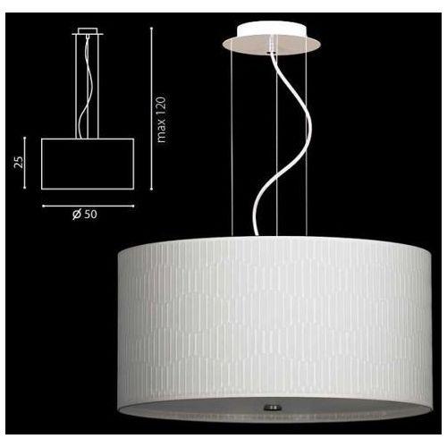 Lampa wisząca onde biała, abażur kremowy promocja od ręki, 67839bk marki Ramko