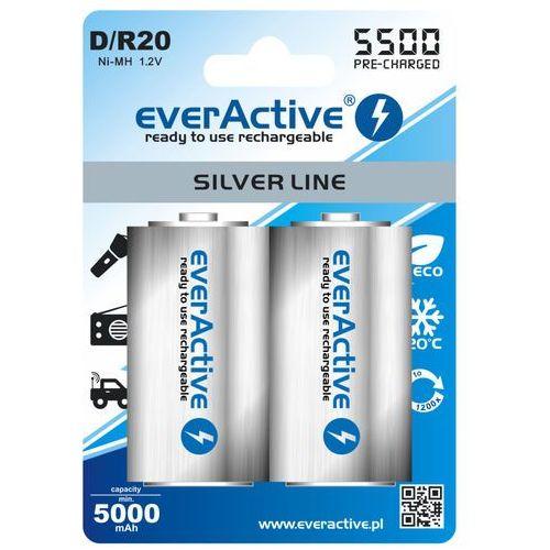 2x akumulatorki everActive R20/D Ni-MH 5500 mAh ready to use, ev54