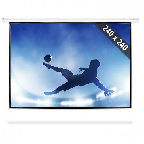 FrontStage Ekran projekcyjny rozwijany, 240 x 240 cm, kino domowe, HDTV, 1:1 (4260130920852)