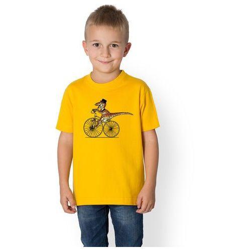 Koszulka dziecięca t-rex na rowerze marki Megakoszulki