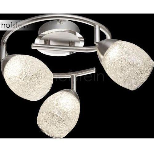 Globo HELENA Reflektor sufitowy LED Nikiel matowy, 3-punktowe - Nowoczesny - Obszar wewnętrzny - HELENA - Czas dostawy: od 2-3 tygodni, 56003-3