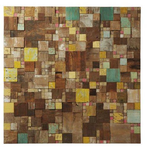 :: obraz inaffit wood natural 100x100cm marki Laforma
