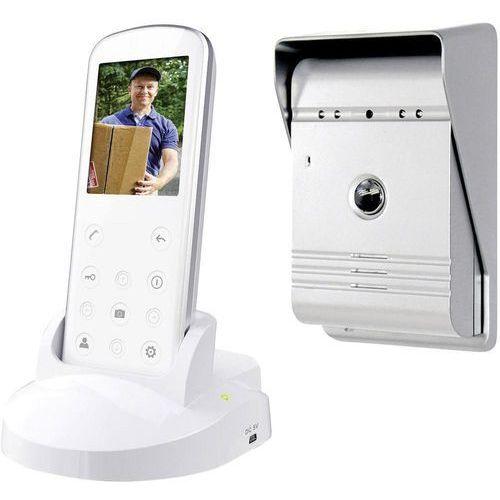 Smartwares Wideodomofon bezprzewodowy vd36w, kompletny zestaw, interkom drzwiowy z wideo, dom jednorodzinny (8711658467856)