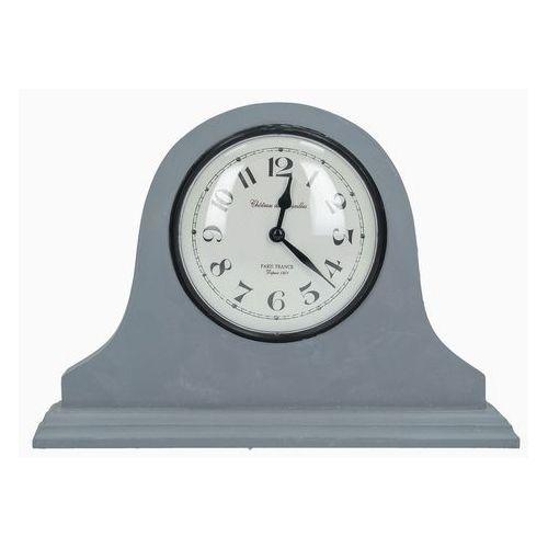 Dekoria zegar kominkowy classic grey wys. 21cm, 29 × 6 × 21 cm