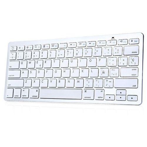 Bk3001ba bluetooth wireless spanish keyboard aluminum alloy / abs computer peripheral, marki Gearbest