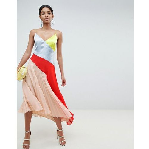 c7652f27f9 Suknie i sukienki · design colourblock dress with pleat hem - multi marki  Asos