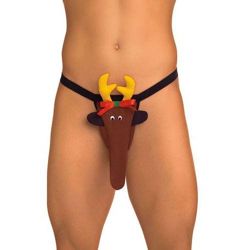 OKAZJA - Seksowne zabawne stringi męskie zwierzak renifer