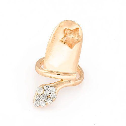 Pierścionek na paznokieć star gold - GOLD