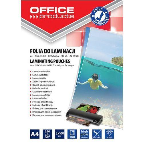 Folia do laminowania A4 błyszcząca transparentna 20325425-90 - OFFICE PRODUCTS (5901503679180)