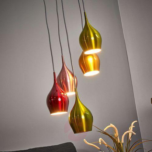 VIBRANT – lampa wisząca z kol. kloszami, 5-pkt. (5053423016740)