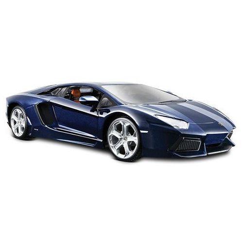 model samochodu lamborghini aventador 1:24, niebieski marki Maisto