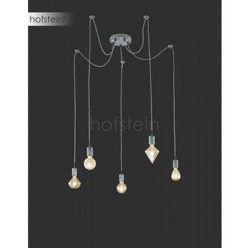 Trio Leuchten Cord Lampa Wisząca Siwy, 5-punktowe - Vintage - Obszar wewnętrzny - Cord - Czas dostawy: od 3-6 dni roboczych, kolor Szary