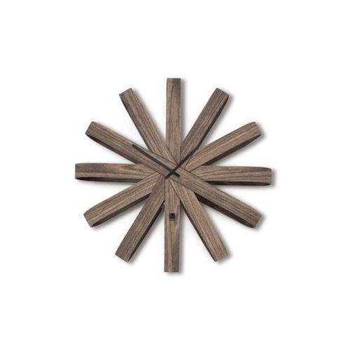 Umbra - Zegar ścienny Ribbonwood - orzech włoski