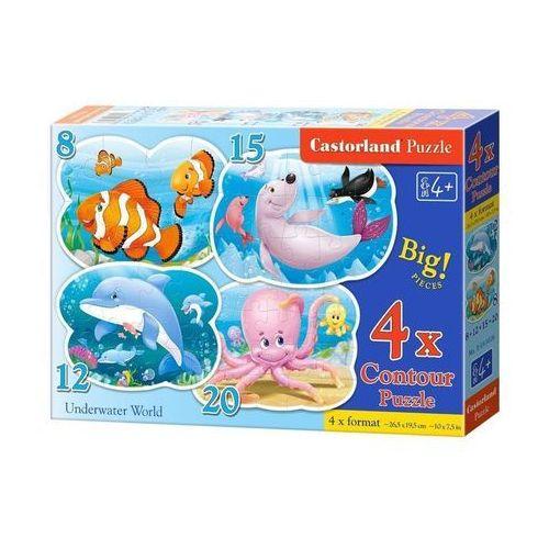 Puzzle x 4 - Podwodny świat CASTOR
