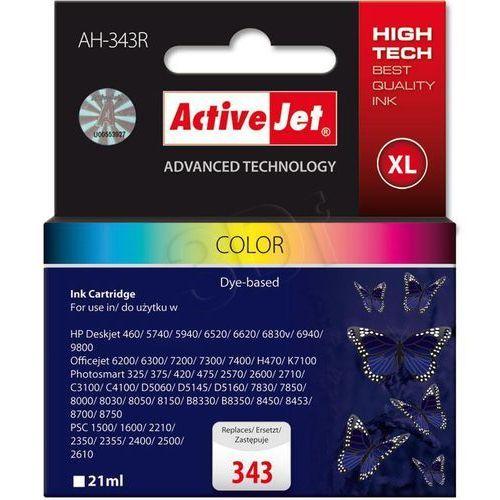 Tusz  ah-343r (ah-766) kolorowy do drukarki hp - zamiennik hp 343 c8766ee wyprodukowany przez Activejet