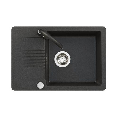 Zlewozmywak granitowy z baterią FIORD / S25A711T KUCHINOX, kolor czarny