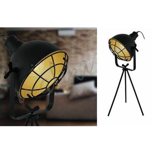 Lampka stołowa Eglo Cannington 49673 lampa nocna 1x60W E27 czarna/złota