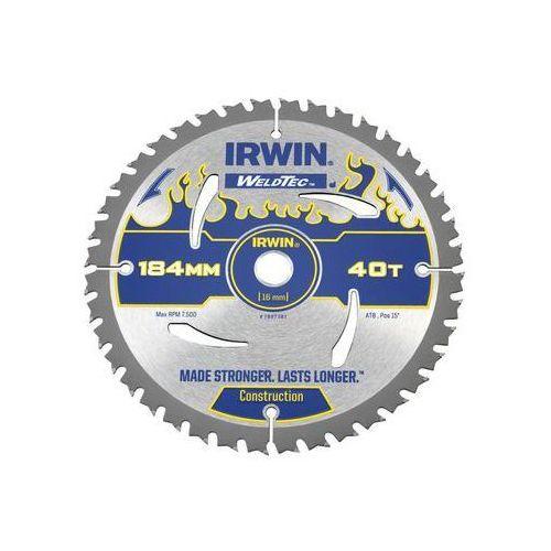 Irwin weldtec Tarcza do pilarki tarczowej 184mm/40t ar16 śr. 184 mm 40 z