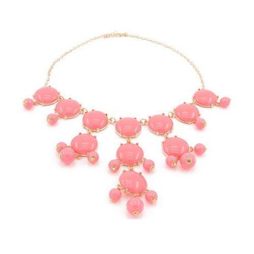 NASZYJNIK KOLIA PINK - różowy, kolor różowy