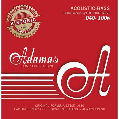 Adamas 5300ml (669602) struny do basu akustycznego phosphor bronze zestaw 4-string med-light