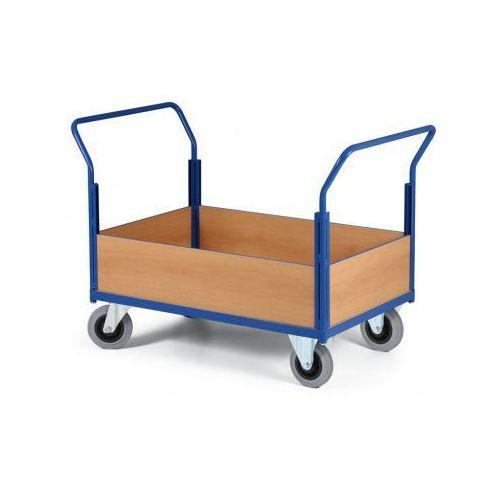 B2b partner Modułowy wózek platformowy - 2 uchwyty, 4 obniżone ściany pełne