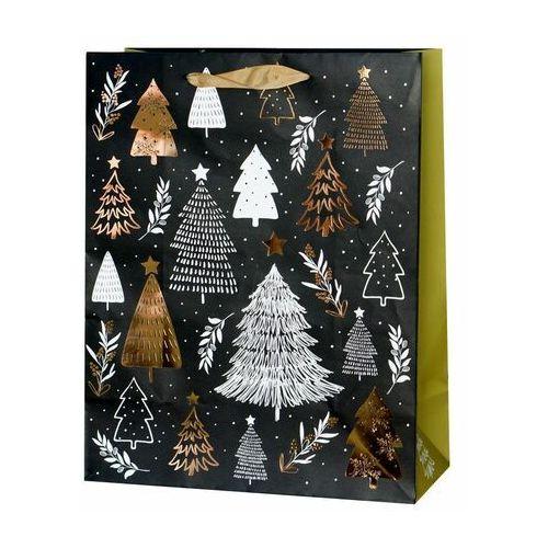 Paw decor Torebka na prezenty christmas tree 13 x 26.5 cm (5906360138153)