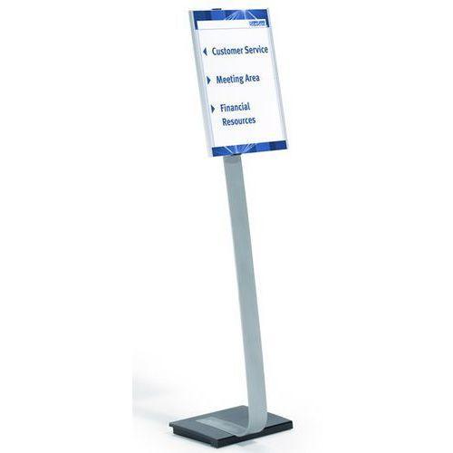 Stojak podłogowy z tablicą informacyjną, z aluminium, din a3, szer. x wys. 297x4 marki Durable