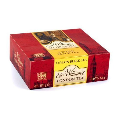 Sir Williams London, Herbata Ceylon Black Tea, saszetki 100 szt., Sir Williams Ceylon Black