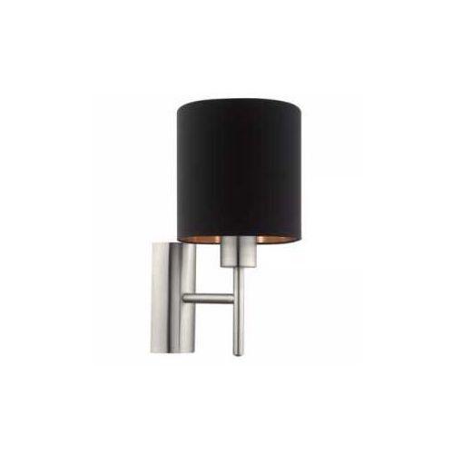 Kinkiet pasteri 95052 lampa ścienna 1x60w e27 czarny/miedź marki Eglo