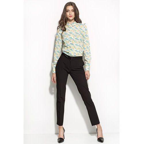 Eleganckie czarne spodnie z kantem marki Nife