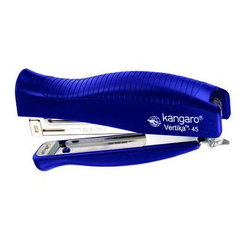 Zszywacz KANGARO Vertika-45+zszywki, zszywa do 30 kartek, blister, niebieski, KAV45-01