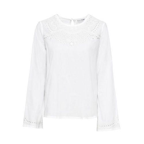Bonprix Shirt z długim rękawem jaskrawy jasnoróżowy