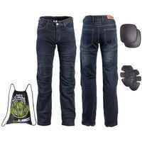 W-tec Męskie jeansowe spodnie motocyklowe pawted, ciemny niebieski, 4xl