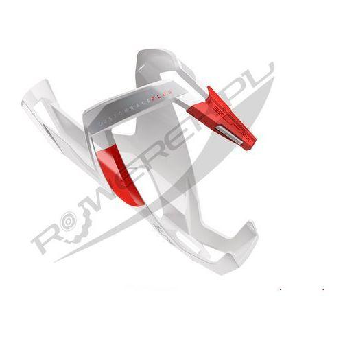 Koszyk na bidon custom race plus biały-czerwony / wykończenie: połysk marki Elite