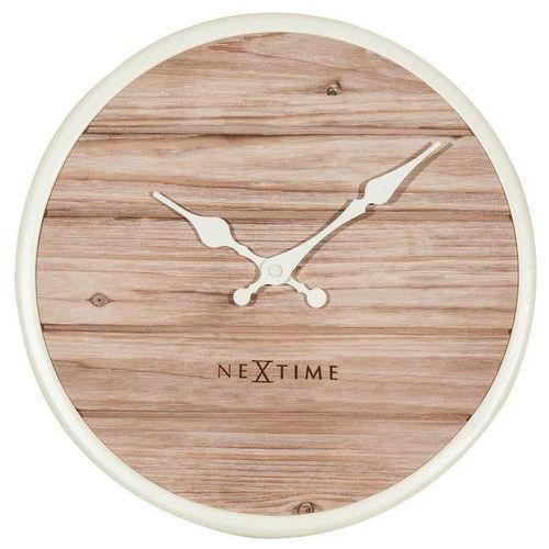 NeXtime - Zegar ścienny Plank - biały