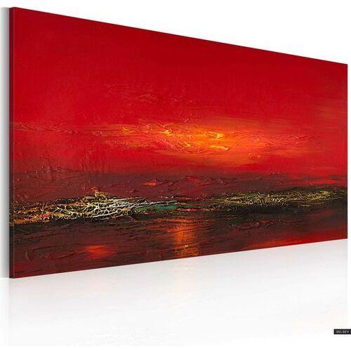 SELSEY Obraz malowany - Czerwony zachód słońca nad morzem (5903025406633)